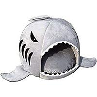 L Size grey warm Soft Dog House Pet Sleeping Bag Shark Dog Kennel Cat House