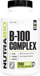 NutraBio Vitamin B-100 Complex - 150 Vegetable Capsules
