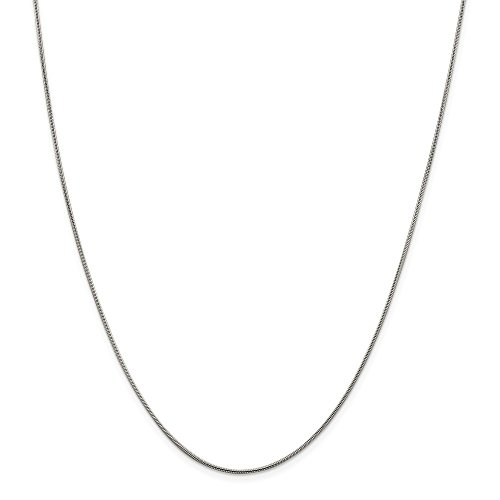 Sterling Silver Polished Lobster Claw Closure .8mm Square Snake Chain Necklace - 18 Inch - Lobster (Jewelryweb Sterling Silver Square)