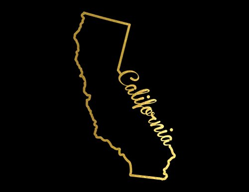 - ND245G California State Decal Sticker | 7-Inches By 4.2-Inches | Premium Quality Gold Vinyl