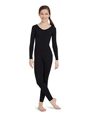 Capezio Big Girls' Team Basic Long Sleeve Unitard, Black, Large