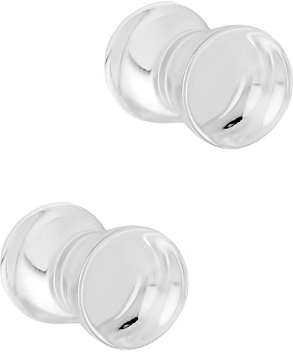 Set of 4G Clear Acrylic Ear Gauges, 4 Gauge 5mm Solid Double Flared Saddle Plug Earrings