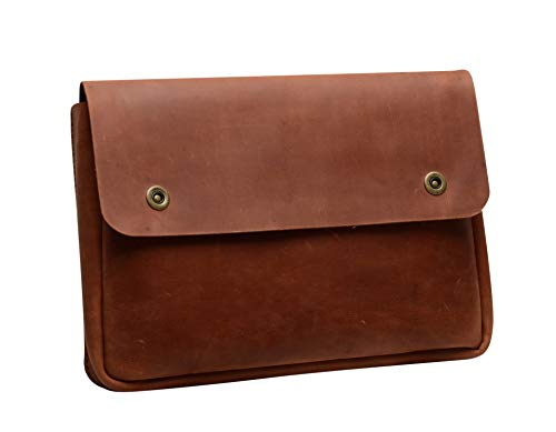 Genuine A4 Size Vintage Leather Folder, Document Holder, Office Paper File case,Leather Folder for Papers and documents, Leather Folio, Portfolio, Business Gift (Cognac) (Leather Document Case)