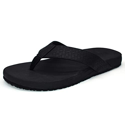 ONCAI Mens Sandals Flip Flops Athletic Cushion Footbed Waterproof ()