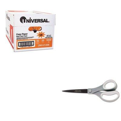 KITFSK01005413UNV21200 - Value Kit - Fiskars Non-Stick Titanium Softgrip Scissors (FSK01005413) and Universal Copy Paper (UNV21200)