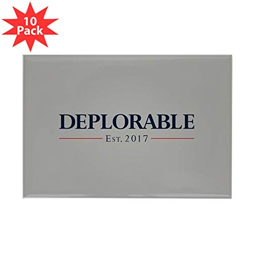 CafePress Deplorable Est 2017 Rectangle Magnet, 2