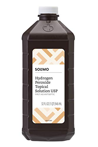 Amazon Brand – Solimo Hydrogen Peroxide Topical Solution USP, 32 Fl Oz