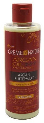Creme Of Nature Argan Oil Leave-In Curl Milk 8 Ounce (235ml) (3 Pack)