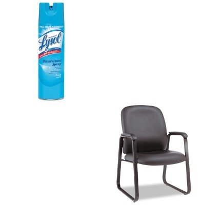 KITALEGE43LS10BRAC04675EA - Value Kit - Best Genaro Guest Chair (ALEGE43LS10B) and Professional LYSOL Brand Disinfectant Spray (RAC04675EA)