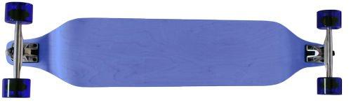 Blue 40 In X 8 In Drop Down Longboard Skateboard Wedge Nose 180Mm Trucks