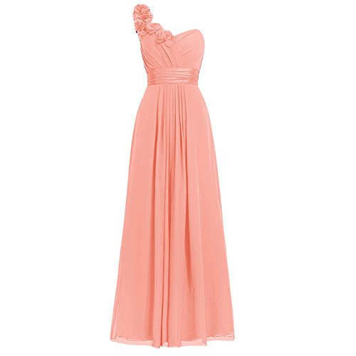 H.S.D Women's Simple Floral One Shoulder Long Bridesmaid - Sammy Dress Clothing