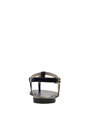 35f4e1495a94 G by GUESS Women s Lexann Buckle Rhinestone Logo T-Strap Sandals ...