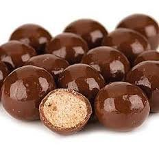 SweetGourmet REDUCED SUGAR Milk Chocolate Covered Malt Balls, 1Lb - Gourmet Chocolate Malt Balls