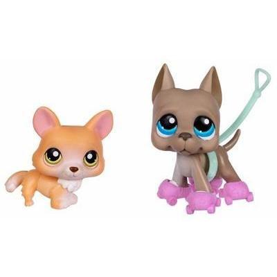 Littlest Pet Shop Corgi & Great Dane Pet Pairs  183  184 by Hasbro