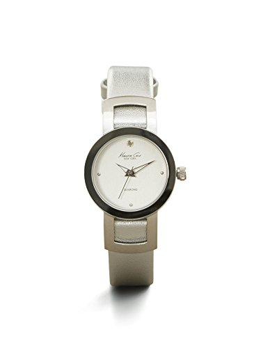 Kenneth Cole New York Women's 10022297 Genuine Diamond- Rock Out Analog Display Japanese Quartz Silver Watch