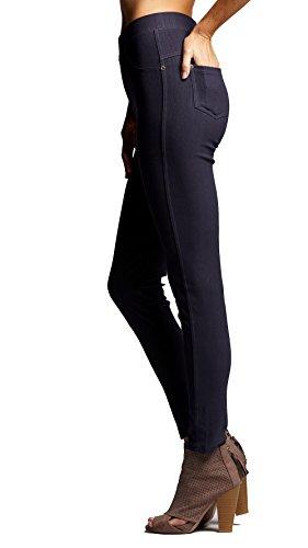 Premium Jeggings - Denim Leggings - Cotton Stretch Blend - Full Length Charcoal Grey - Small/Medium