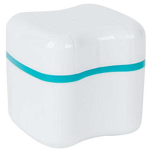 European Design Style - Denture-Retainer-Invisalign Bath With Basket European Style Attractive Durable Design (Standard, Teal)