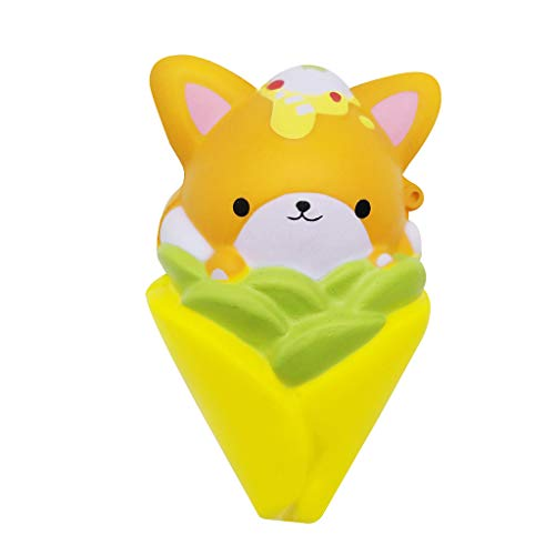 Woody Cell Phone Charm - AckfulMini Adorable Fox Corn Super Slow Rising Kids Fun Stress Reliever Toy