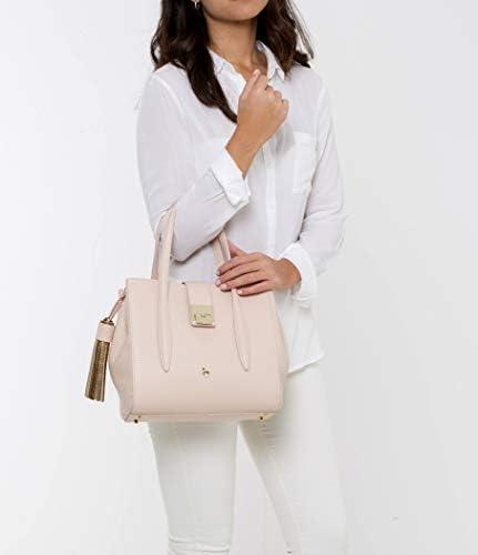 Petusco Zada Grain Leather Shoulder Bag, Nude