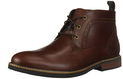Nunn Bush Men's Ozark Plain Toe Chukka Boot with KORE Comfort Technology, Rust, 9.5