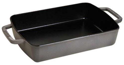 Staub Roasting Pan 8 x 12-inch Graphite Grey