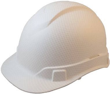 Pyramex Cap Style RIDGELINE Patterned Hard Hat with 6 Point Ratchet Suspension and Hard Hat Tote - White Graphite