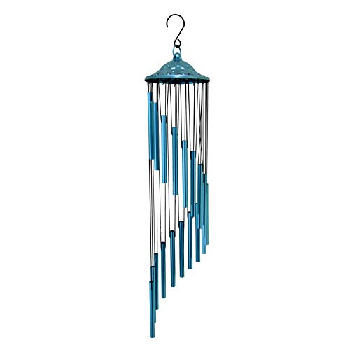 Every Growing Wind Chimes Metal for Classroom Outdoor Garden Bells Metal Windchime Large Deep Tone Elegant Windchimes Decor Yard Decorations Patio - Navy Blue