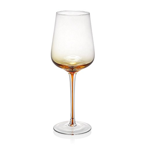 Viridian Bay Amber Wine Glass Set of 6 ()