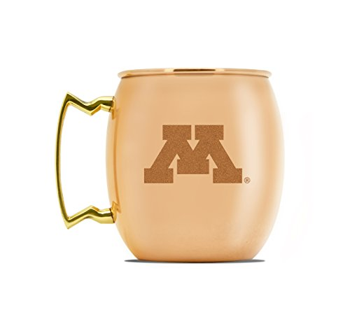 NCAA Minnesota Golden Gophers 16oz Copper Moscow Mule Mug ()