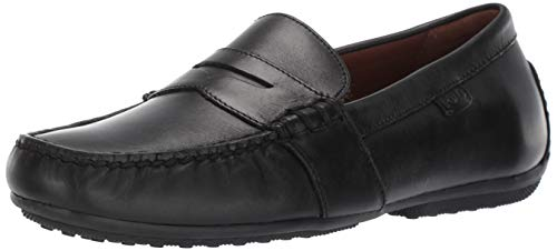 Polo Ralph Lauren Men's Reynold Driving Style Loafer Black 10 D US (Polo Mens Leather)
