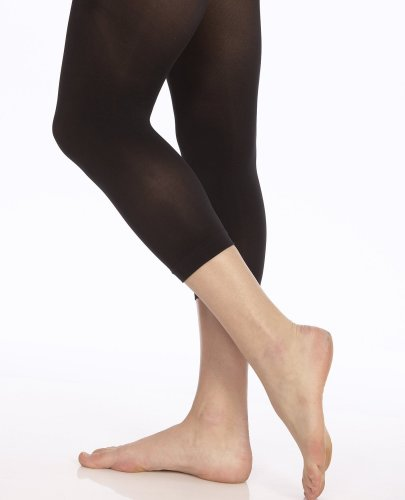 Danskin Women's Microfiber Hipster Crop Tights, Black, C/D - Danskin Fishnets