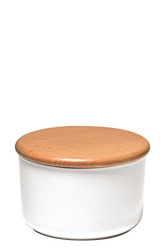 EMILE HENRY Natural Chic Collection EH118741 Storage Container 1 Litre Diameter / 1.0 Litre Ceramic nougatweiss