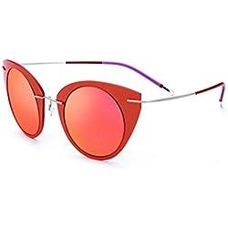 Rock shop Ojos de Gato Gafas de Sol polarizadas for Mujer Gafas de Sol con Montura de Nylon Lentes TAC Gafas de Sol con protección UV for Conducir Vacaciones Playa Gafas de Sol al Aire Libre Gafas de