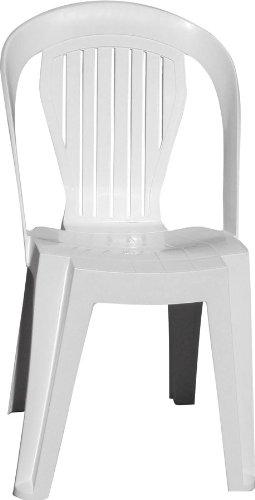Plastica Alto Sele Aleviolet Jeu De Plein Air Chaise Bistrot Violetta Blanc
