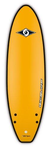 BIC Sport Kid's G-Board EVO Twin Soft Surfboard, Yellow, 5-Feet 6-Inch x 19.4-Inch by BIC Sport