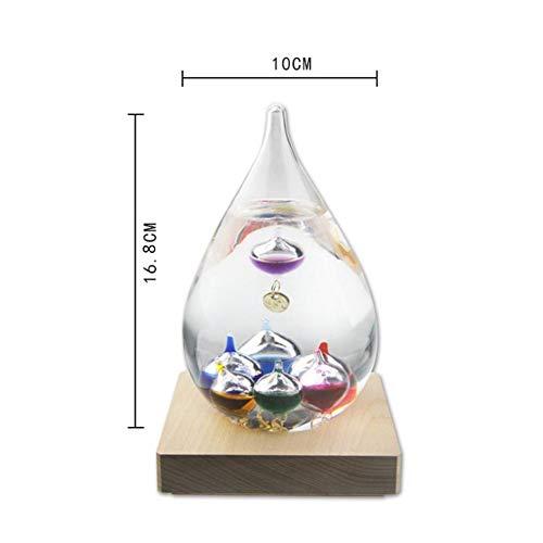 TOTALSHOP - Juego de termómetro Galileo de Bola de Vidrio, do