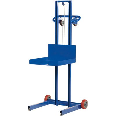 Vestil LLPW-500-FW Low Profile Lite Load Lift with Hand Winch, Steel, 29-13/16'' Length, 30-1/2'' Width, 66'' Height, 500 lbs Capacity by Vestil