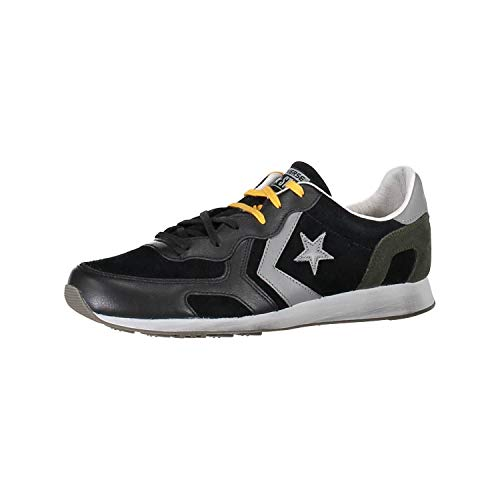 Converse Scarpa Auckland Racer Black leather Mainapps Ox Suede T11w7qd