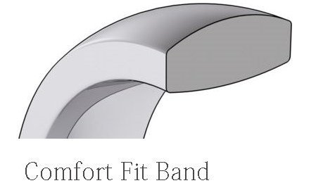 Heavy Comfort Fit Plain Wedding Band 2mm Wide Mens and Womens 14k White Gold