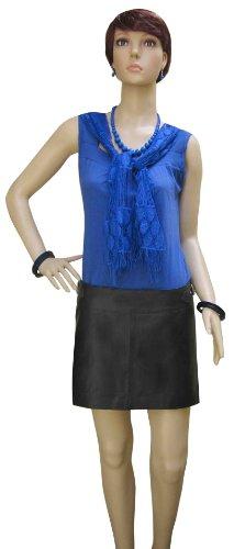 Negro Leather Para Bespoke Mujer Tailored Falda AS0q0w