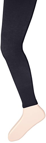 - Country Kids Girls' Big Footless Organic Cotton Tights, Navy, 9-11 Years