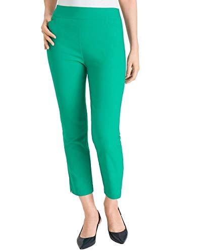 Chico's Women's So Slimming Brigitte Slim Crops Size 16/18 XL (3) Green