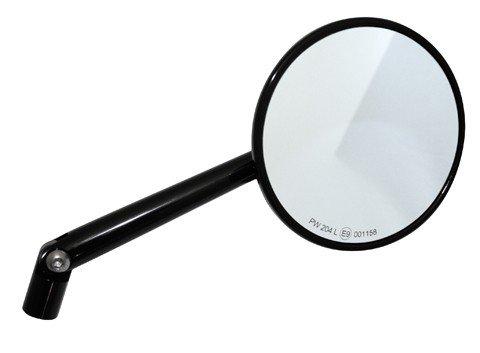 Motorrad Spiegel Lenkerspiegel Universal MONTANA rund Alu Kopf schwarz eloxiert Stiel verstellbar linke und rechts
