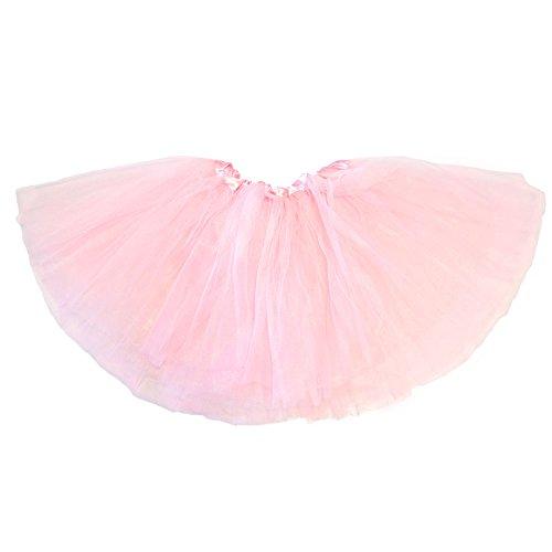 [My Lello Little Girls Tutu 3-Layer Ballerina Light Pink (9 mo - 3T)] (Ballerina Costumes For Toddler)