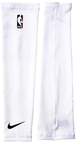 (Nike NBA Shooter Sleeve - Pair (White/Black, Small) )