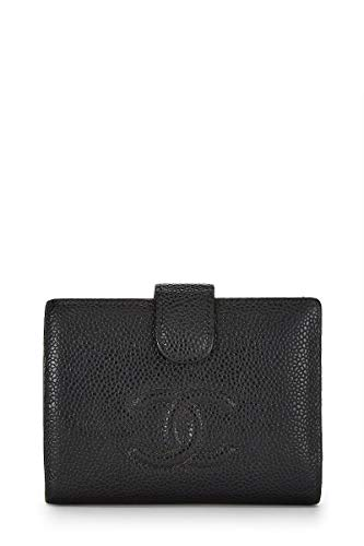 CHANEL Black Caviar Bifold Wallet - Chanel Caviar