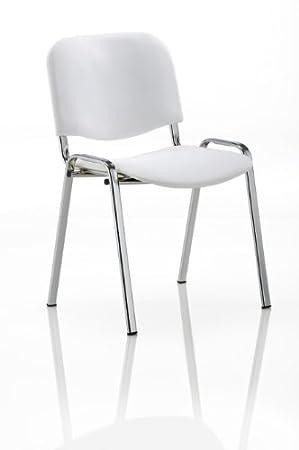 KARISMA - ISO ECOPELLE C, Sedia In Plastica Casa / Ufficio / Attesa / Scuola / Bar, Bianco Eurotekna