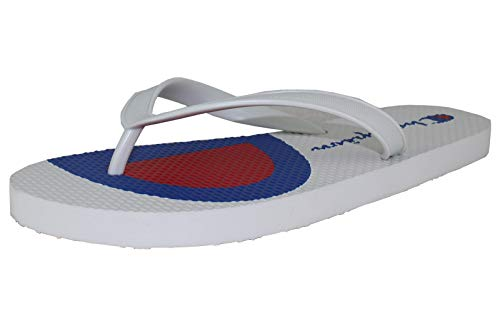 Champion Men's Flip C Split Flip Flop Sandals (11 US M, White) - Thongs Champion