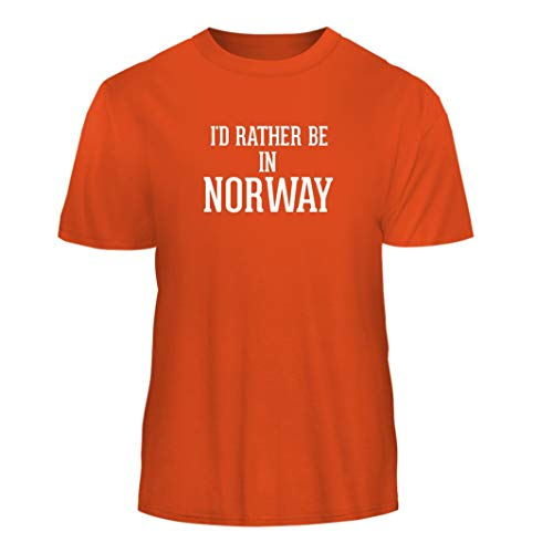 I'd Rather Be in Norway - Nice Men's Short Sleeve T-Shirt, Orange, X-Large