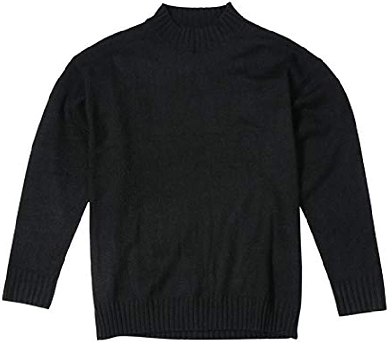 Autumn New Basic Sweater Męskie Rundhalsstrickwaren Plus Size Einfarbiger O-Ausschnitt Plus Size Pullover: Küche & Haushalt
